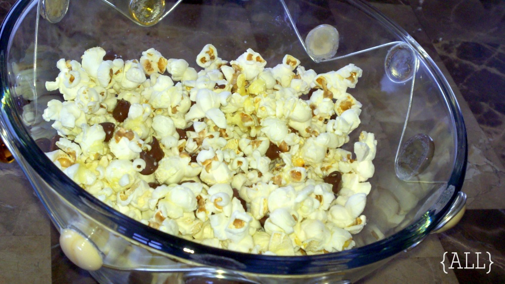 Popcorn with chocolate chips
