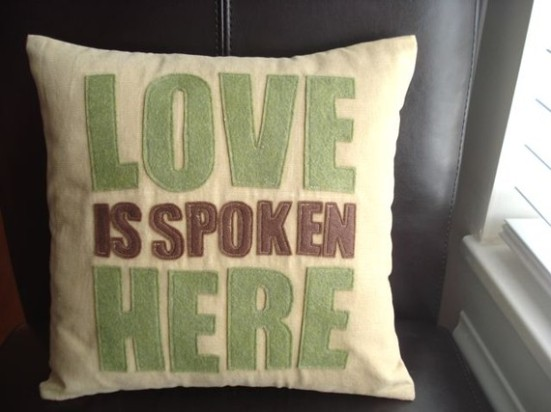 Love is spoken here pillow cover