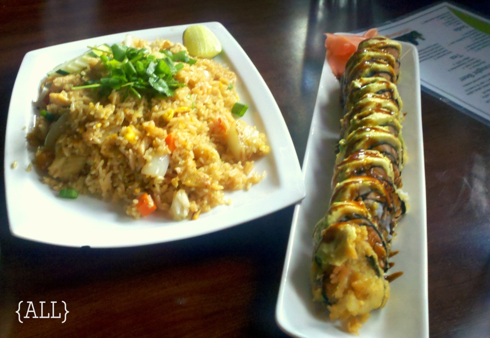 Thai rice + sushi
