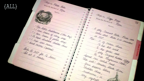 Inside cookbook