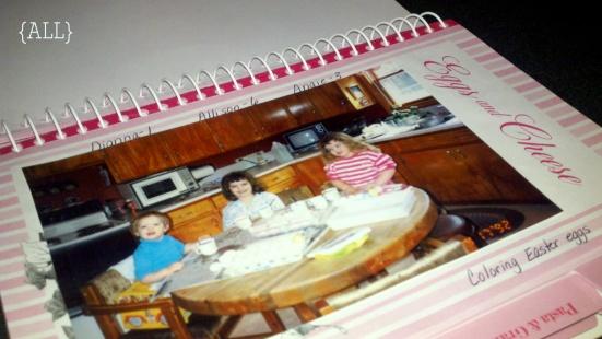 Photo inside cookbook