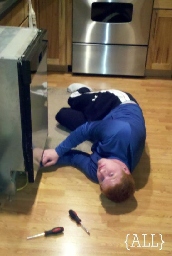 Removing dishwasher