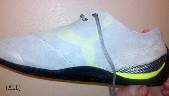 Lime Pumas side view