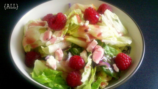 Raspberry feta salad