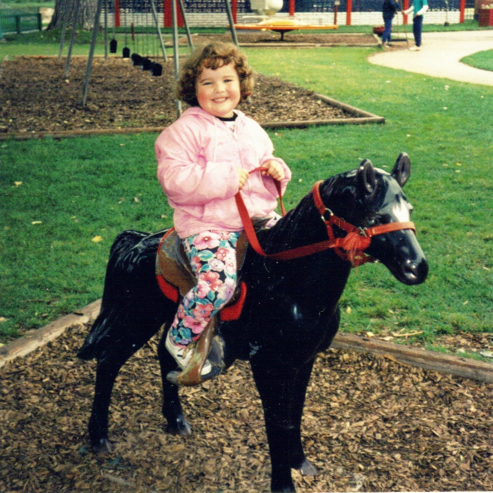 Angie riding horse